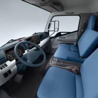 Fuso Canter Interior From Left Side